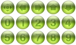 Glass Buttons Set 5. Set of buttons for web design. All buttons are isolated using a clipping path which make it easy to use them on any background color. See royalty free illustration