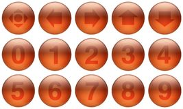 Glass Buttons Set 5. Set of buttons for web design. All buttons are isolated using a clipping path which make it easy to use them on any background color. See stock illustration