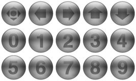 Glass Buttons Set 5. Set of buttons for web design. All buttons are isolated using a clipping path which make it easy to use them on any background color. See Royalty Free Stock Image