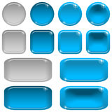 Glass buttons, set Stock Image