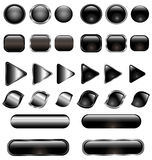Glass buttons set Royalty Free Stock Image