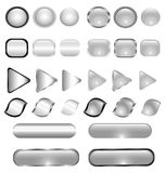 Glass buttons set royalty free illustration