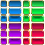 Glass Buttons, Set Royalty Free Stock Photos