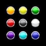 Glass buttons set for your design Royalty Free Stock Photo