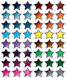 Glass Buttons Star Royalty Free Stock Photo