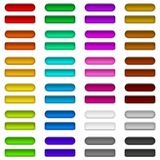 Glass buttons of various colors, set Stock Photo