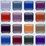 Glass buttons vector set Royalty Free Stock Photography