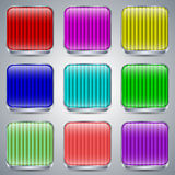 Glass buttons vector set Royalty Free Stock Photo