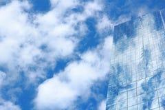 Glass byggnad för blå spegel, ytterbyggnad Arkivfoton
