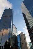 Glass byggnader för kontor i staden Fotografering för Bildbyråer