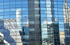 Glass byggnader och reflexioner Royaltyfria Bilder