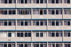 Glass byggnadslägenheter Arkivfoto