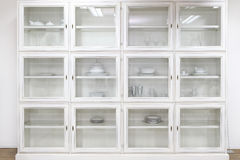 Glass cabinet Stock Photos