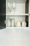 Glass in Cabinet Stock Image