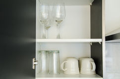 Glass in Cabinet Royalty Free Stock Photo