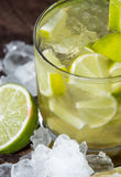Glass of Caipirinha with Crushed Ice Stock Image