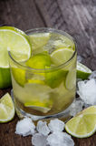 Glass of Caipirinha with Crushed Ice Royalty Free Stock Photo