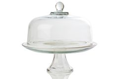 Glass cake stand Royalty Free Stock Images