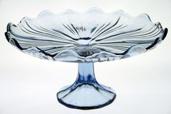 Glass cake stand Royalty Free Stock Photos