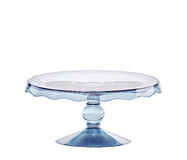 Glass cake stand with clipping path Royalty Free Stock Photography