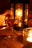 Glass of calvados Royalty Free Stock Photography