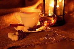 Glass of Calvados Stock Image
