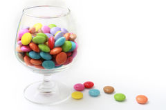 Glass of candies Stock Image