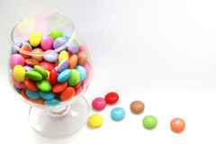 Glass of candies Royalty Free Stock Photos