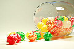 Glass of candies Stock Images