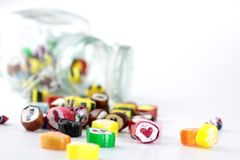 Glass with candies Royalty Free Stock Photography