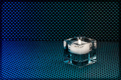 Glass candle holder Stock Images