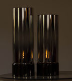 Glass candle holders Royalty Free Stock Images