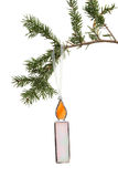 Glass candle tree ornament Royalty Free Stock Photography
