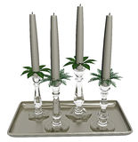 Glass candlesticks Royalty Free Stock Image