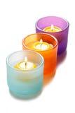 Glass candlesticks Stock Photo