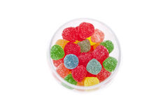 Glass with candy Stock Photo