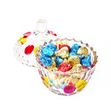 Glass candy box 3 Stock Images