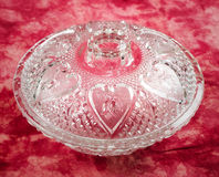 Glass Candy Dish Royalty Free Stock Photos
