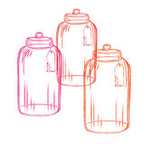 Glass candy jar Stock Photography