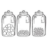 Glass candy jar Stock Image