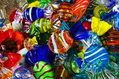 Glass Candy store stock photo