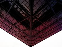 Glass canopy. A miracle of architecture hovering overhead Stock Photos