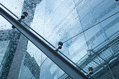 Glass canopy. Of modern building Stock Photos