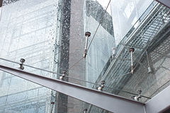 Glass canopy. Of modern building Royalty Free Stock Photos
