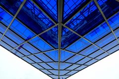 Glass canopy. The glass canopy over his head Stock Photos