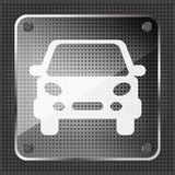 Glass car icon Royalty Free Stock Photos