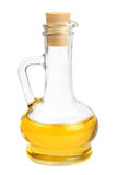 Glass carafe with vegetable oil Royalty Free Stock Images