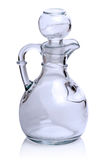Glass carafe on white Royalty Free Stock Photography