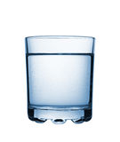 Glass with carbonated water. Isolated Royalty Free Stock Image
