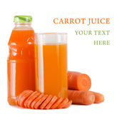 Glass with carrot juice Stock Image